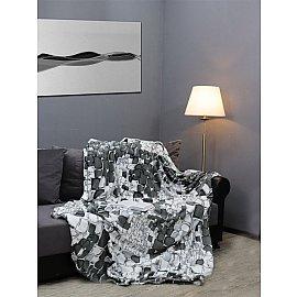 """Плед фланель Absolute """"Камешки"""", серый, белый, 180*210 см"""
