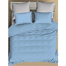 КПБ сатин однотонный Alaska с простыней на резинке (2 спальный)