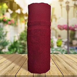 Полотенце однотонное с жаккардом Vafl, бордовый, 70*140 см