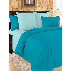 КПБ мако-сатин жатый Aquamarine (1.5 спальный)