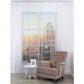 Тюль вышивка Premium RR 62208401-02, серый, 300*270 см