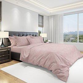 КПБ бязь Eco cotton Fraction, розовый (2 спальный)