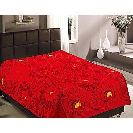 """Плед фланель Absolute """"Розы красные"""", красный, 150*200 см"""