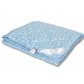 """Одеяло """"Лебяжий пух"""", легкое, голубой, 140*205 см"""