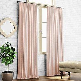 """Комплект штор """"Ким"""", бледно-розовый, 140*270 см"""