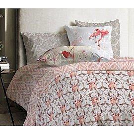 КПБ ранфорс Mona Liza Japanese Flamingo Lily с наволочками 70*70 (2 спальный)