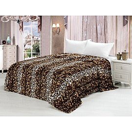 Покрывало меховое Леопард дизайн 007, 220*240 см