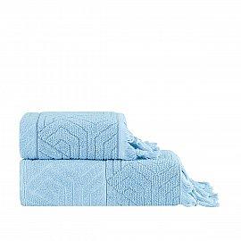 Полотенце жаккард Arya Volie, голубой, 70*140 см