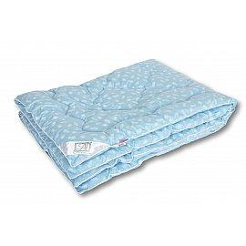 """Одеяло """"Лебяжий пух"""", теплое, голубой, 140*205 см"""