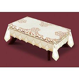 Скатерть №33160-140, кремовая, золотая