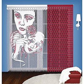 Кисея нитяная штора Пьеро на кулиске, (90*240;150*240)