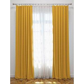 """Комплект штор с подхватами """"Блэкаут"""", желтый, 170*270 см"""