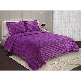 Покрывало Buenas Noches Velour с наволочками, фиолетовый, 230*250 см