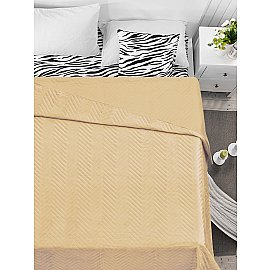 Покрывало флок Amore Mio Soft, бежевый, 200*220 см