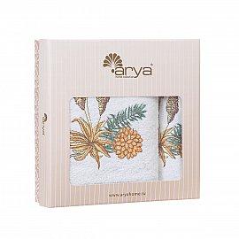 Комплект махровых полотенец с вышивкой Arya Orino (30*50 см; 50*90 см; 70*140 см)
