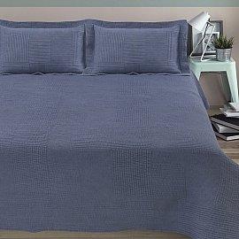 Покрывало стеганое вареное Arya Elexus, голубой, 180*240 см