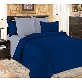 КПБ мако-сатин жатый Sapphire (2 спальный), синий