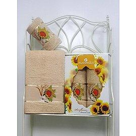 Комплект махровых полотенец Merzuka Sunflower дизайн 02 (50*80; 70*130)