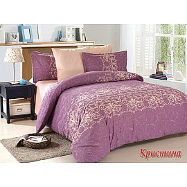 КПБ поплин Christina (1.5 спальный), фиолетовый