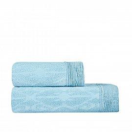 Полотенце жаккард Arya TUNA, голубой, 70*140 см