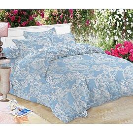 КПБ мако-сатин печатный Yana (1.5 спальный), голубой