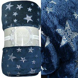 "Плед фланель Absolute ""Stars"", синий, 200*220 см"