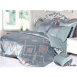 КПБ Сатин жаккард  дизайн 025, лагуна (2 спальный)