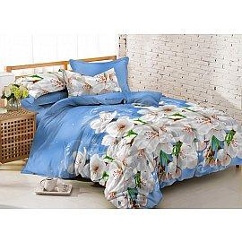 КПБ мако-сатин Amore Mio Darkhan (2 спальный), голубой