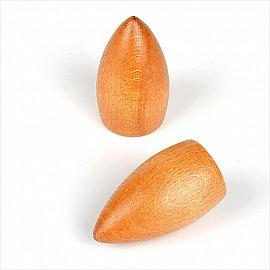 "Комплект наконечников из дерева для карниза ""Орион"", вишня"