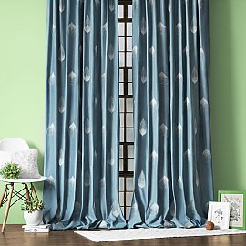 """Комплект штор """"Элис"""", серо-голубой, 145*270 см"""