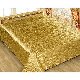 Покрывало шелк Premium №7, золотой, 200*220 см