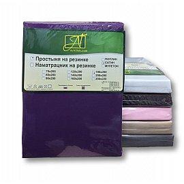 Простынь сатин на резинке, фуксия, 90*200*25 см