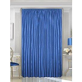 Шторы однотонный лен Amore Mio RR ZJM090-27, синий, 200*270 см
