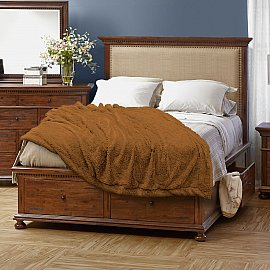 Плед мех Buenas Noches Chinchilla Длинный ворс, коричневый, 160*220 см