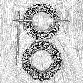 Подхват-заколка MI C3-12 kryg, серебро