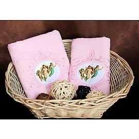 Комплект полотенец Barracouta Angels (Cotton) в коробке (50*90; 70*140), розовый