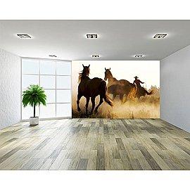 """Фотообои """"Табун лошадей"""", 368*254 см"""