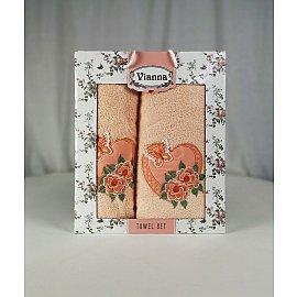 Комплект махровых полотенец Vianna Luxury Series дизайн 05 (50*90; 70*140)