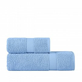 Полотенце однотонное Arya Miranda Soft, светло-голубой, 70*140 см