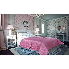 Покрывало атлас сатин Amore Mio Trire, розовый, 220*240 см