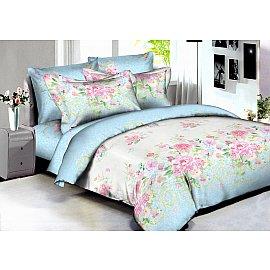 КПБ сатин реактивная печать Madrid (2 спальный), голубой