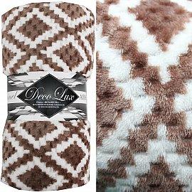 Плед Absolute Deco Lux, коричневый, 200*220 см
