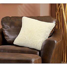 Наволочка декоративная Chinchilla Длинный ворс, кремовый, 48*48 см