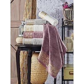 Комплект махровых полотенец TexRepublic Bamboo Valle, бежевый, 70*130 см - 3 шт