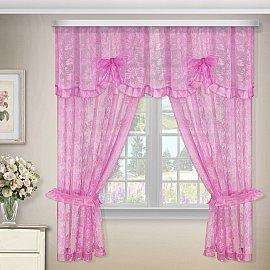 Комплект штор №88876, розовый