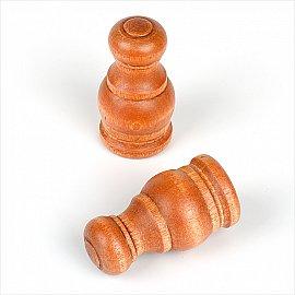 """Комплект наконечников из дерева для карниза """"Лугано"""", вишня"""