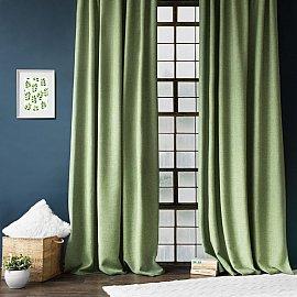 """Комплект штор с подхватами """"Джерри"""", зеленый, 140*270 см"""
