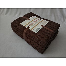 Плед вязаный акрил Buenas Noches Molto, коричневый, 200*220 см