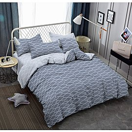 КПБ cатин пигмент Gold Mezzo (2 спальный), серый