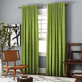 Комплект штор Ибица, зеленый, 140*270 см